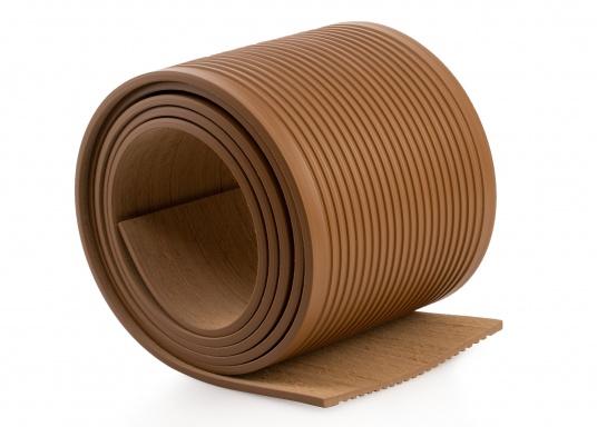 ISITEEK lässt jedes Deck hochwertig und elegant aussehen! Der Decksbelag besteht aus recycelbaren Verbundwerkstoffen und erweckt dank seiner Optik den Anschein eines echten Teakdecks. (Bild 5 von 5)