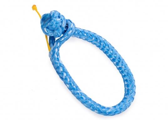 Schäkel, hergestellt aus dem hochwertigem DynaOne®. Vorteile: einfache Anbringung und Demontage, geringere Verletzungsgefahr. Erhältlich in verschiedenen Größen. Farbe: blau.  (Bild 3 von 4)
