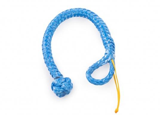 Schäkel, hergestellt aus dem hochwertigem DynaOne®. Vorteile: einfache Anbringung und Demontage, geringere Verletzungsgefahr. Erhältlich in verschiedenen Größen. Farbe: blau.  (Bild 4 von 4)