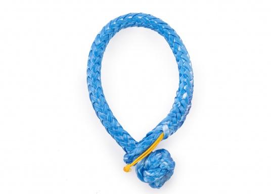 Schäkel, hergestellt aus dem hochwertigem DynaOne®. Vorteile: einfache Anbringung und Demontage, geringere Verletzungsgefahr. Erhältlich in verschiedenen Größen. Farbe: blau.