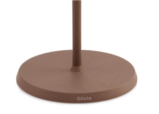 Die hochwertige LED-Tischlampe OLIVIA verfügt über einen integrierten Akku und besticht mit edlem Design und hoher Funktionalität. Sie findet sowohl als Dekoleuchte als auch als Tischbeleuchtung überallihren Platz und sorgt für ein wohliges Ambiente. (Bild 4 von 7)