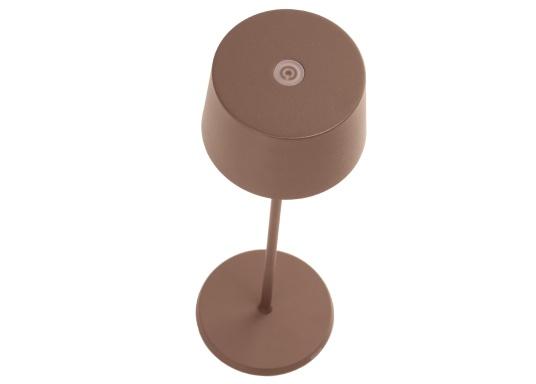 Die hochwertige LED-Tischlampe OLIVIA verfügt über einen integrierten Akku und besticht mit edlem Design und hoher Funktionalität. Sie findet sowohl als Dekoleuchte als auch als Tischbeleuchtung überallihren Platz und sorgt für ein wohliges Ambiente. (Bild 5 von 7)