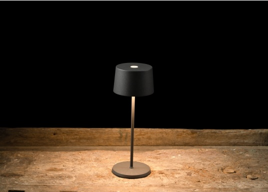 The high-quality OLIVIA LED table lamp has an integrated battery and stands out with its elegant design and high functionality. It suits any room and can be used both as a decorative lamp and as table lighting, creating a cosy atmosphere. (Image 9 of 9)