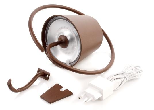 La lámpara de pared LED POLDINA de alta calidad, tiene una batería recargable integrada e impresiona por su elegante diseño y alta funcionalidad. La lámpara se puede instalar fácil y rápidamente con la ayuda del soporte incluido y crea un ambiente acogedor. (Imagen 5 de 5)