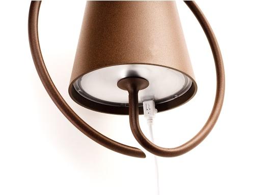 La lámpara de pared LED POLDINA de alta calidad, tiene una batería recargable integrada e impresiona por su elegante diseño y alta funcionalidad. La lámpara se puede instalar fácil y rápidamente con la ayuda del soporte incluido y crea un ambiente acogedor. (Imagen 4 de 5)