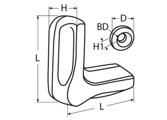 Edelstahl Drehverschluss für Ihre Schrank-, oder Schubladentüren. (Bild 10 von 10)