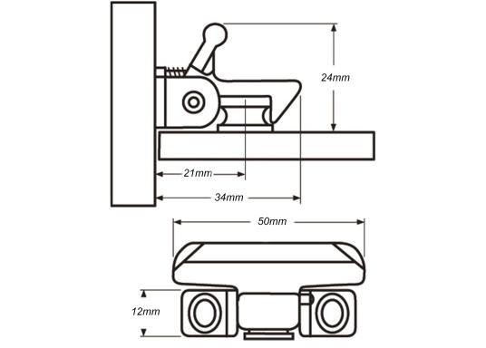 Edelstahl Verschluss für Schranktüren und Schubladen. (Bild 4 von 4)