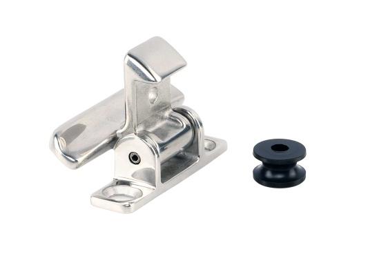 Edelstahl Verschluss für Schranktüren und Schubladen.