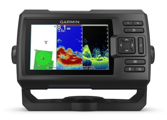 Dank innovativer Farboptionen sehen Sie Fische und Strukturen wie nie zuvor! Der Fishfinder STRIKER Cast von Garmin überzeugt mit hochauflösenden Sonarbildern, einem ausgezeichneten Kontrast und integriertem GPS. So können die Lieblingsspots zum Angeln problemlos markiert werden, um jederzeit den Weg dorthin zurückzufinden.