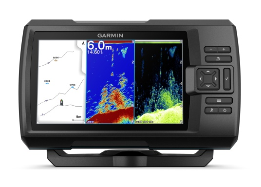 Dank innovativer Farboptionen sehen Sie Fische und Strukturen wie nie zuvor! Der Fishfinder STRIKER Cast von Garmin überzeugt mit hochauflösenden Sonarbildern, einem ausgezeichneten Kontrast und integriertem GPS. So können die Lieblingsspots zum Angeln problemlos markiert werden, um jederzeit den Weg dorthin zurückzufinden. (Bild 2 von 6)