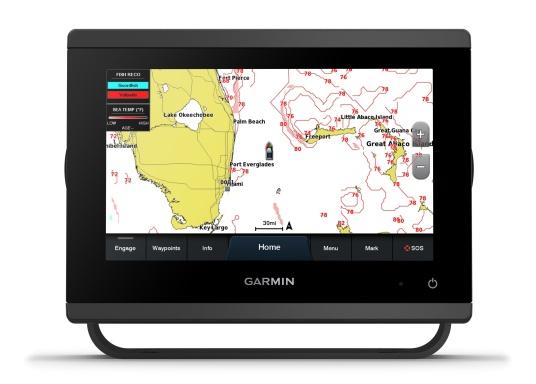 """Die neue GPSMAP-Serie verfügt über eine deutlich höhere Auflösung und eine noch schnellere Prozessorleistung. Zusätzlich bietet der 7"""" Touchscreen von Garmin eine optimierte Kartendarstellung, eine hervorragende Benutzeroberfläche und kann problemlos in das Garmin-Marinesystem integriert werden. (Image 2 of 9)"""