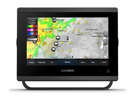"""Die neue GPSMAP-Serie verfügt über eine deutlich höhere Auflösung und eine noch schnellere Prozessorleistung. Zusätzlich bietet der 7"""" Touchscreen von Garmin eine optimierte Kartendarstellung, eine hervorragende Benutzeroberfläche und kann problemlos in das Garmin-Marinesystem integriert werden. (Image 5 of 9)"""