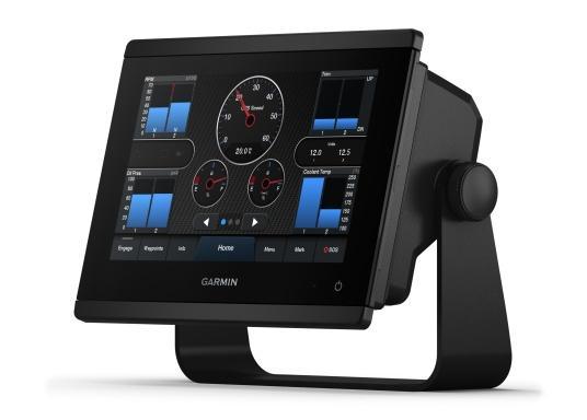 """Die neue GPSMAP-Serie verfügt über eine deutlich höhere Auflösung und eine noch schnellere Prozessorleistung. Zusätzlich bietet der 7"""" Touchscreen von Garmin eine optimierte Kartendarstellung, eine hervorragende Benutzeroberfläche und kann problemlos in das Garmin-Marinesystem integriert werden. (Image 6 of 9)"""