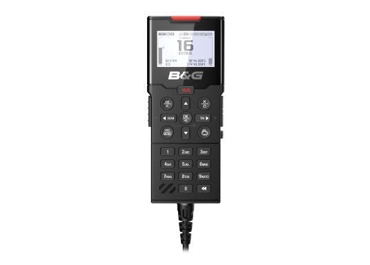 Bleiben Sie überall an Bord in Verbindung! An die UKW-Seefunkanlage V100 von B&G können bis zu acht Handgeräte und vier externe Lautsprecher angeschlossen werden. Das Bedienteil verfügt über eine inuitive Benutzeroberfläche und zeigt die wichtigsten Daten auf einem großen, gut lesbaren Display an. Im Lieferumfang ist ein kabelgebundenes Handgerät und ein Lautsprecher enthalten. (Bild 6 von 15)