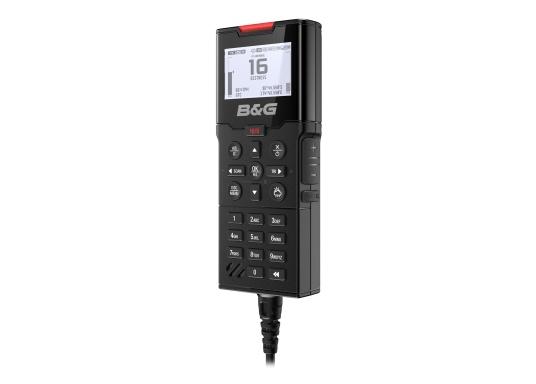 Bleiben Sie überall an Bord in Verbindung! An die UKW-Seefunkanlage V100 von B&G können bis zu acht Handgeräte und vier externe Lautsprecher angeschlossen werden. Das Bedienteil verfügt über eine inuitive Benutzeroberfläche und zeigt die wichtigsten Daten auf einem großen, gut lesbaren Display an. Im Lieferumfang ist ein kabelgebundenes Handgerät und ein Lautsprecher enthalten. (Bild 7 von 15)