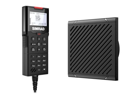 Das kabelgebundene Handset HS100 von SIMRAD ist ein vollfunktionales Zweitbediengerät und bietet Ihnen Zugriff auf alle Funktionen der UKW-Funkanlagen RS100 und RS100-B von einem anderen Standort an Bord aus. Lieferung inklusive Lautsprecher SP100.
