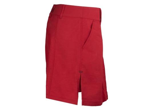 Der schöne Damen-Rock SABRINA von SEARANCH verfügt über zwei Taschen und einen Unterrock. Die Fast Dry-Funktion ermöglicht eine hohe Funktionalität. Der Oberstoff besteht zu 100 % aus Nylon, das Futter zu 95 % aus Polyester und 5 % aus Elasthan. Farbe: rot. (Bild 3 von 3)
