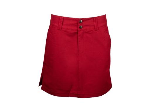 Der schöne Damen-Rock SABRINA von SEARANCH verfügt über zwei Taschen und einen Unterrock. Die Fast Dry-Funktion ermöglicht eine hohe Funktionalität. Der Oberstoff besteht zu 100 % aus Nylon, das Futter zu 95 % aus Polyester und 5 % aus Elasthan. Farbe: rot.