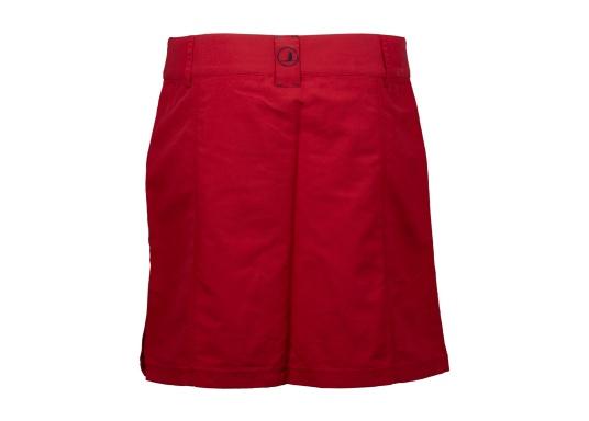 Der schöne Damen-Rock SABRINA von SEARANCH verfügt über zwei Taschen und einen Unterrock. Die Fast Dry-Funktion ermöglicht eine hohe Funktionalität. Der Oberstoff besteht zu 100 % aus Nylon, das Futter zu 95 % aus Polyester und 5 % aus Elasthan. Farbe: rot. (Bild 2 von 3)