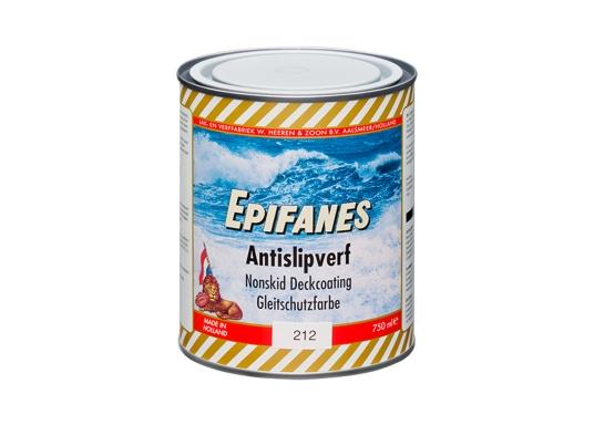 Hervorragende Decksbeschichtung! Die Gleitschutzfarbe von EPIFANES erzeugt durch die abgestimmte Zugabe von Polypropylen-Kugeln eine rutschfeste, halbglänzende Oberfläche. Erhältlich in unterschiedlichen Farben.
