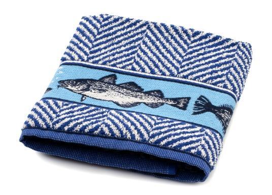 Hochwertiges Handtuch im maritimen Design. Maße: 53 x 60 cm. 100% Baumwolle. Made in Portugal. (Bild 2 von 3)