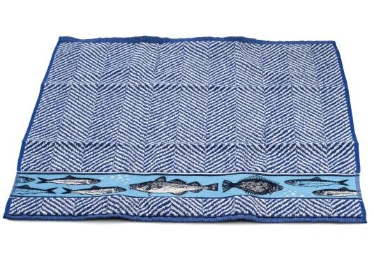 Hochwertiges Handtuch im maritimen Design. Maße: 53 x 60 cm. 100% Baumwolle. Made in Portugal. (Bild 3 von 3)