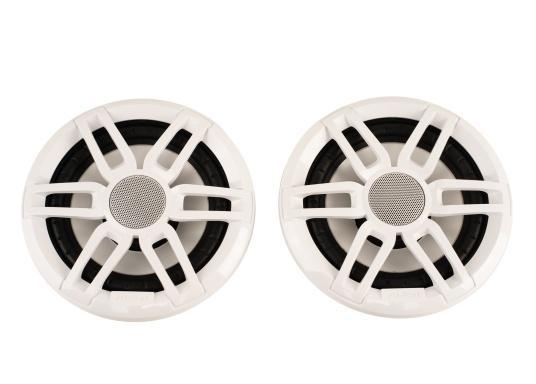 Die leistungsstarken Lautsprecher der XS-Serie überzeugen mit der gewohnten FUSION Qualität und eignen sich hervorragend für die besonderen Anforderungen im Marine Bereich. Mit RGB-LED-Beleuchtung. Erhältlich in verschiedenen Ausführungen. Lieferung erfolgt paarweise. Zusätzlich werden jeweils 2 Gitter in weiß und schwarz mitgeliefert.