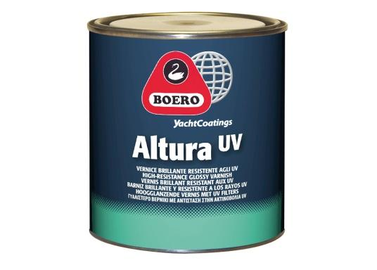 1-Komponentiger Hochglanz-Klarlack mit hoher Elastizität und Füllkraft. ALTURA UV hat eine hervorragende Witterungsbeständigkeit und zusammen mit dem hohen Schutz gegen UV-Strahlen eignet sich der Lack bestens für die besonderen Anforderungen an Bord.