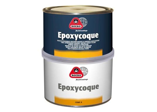 EPOXYCOQUE 401 ist eine leistungsfähige, schnelltrocknende Epoxy-Spachtelmasse, verwendbar auf GFK, Holz, Stahl und Aluminium. Mit der Spachtelmasse können kleine und große Beschädigungen sowohl im Über- als auch im Unterwasserbereich gespachtelt werden (maximale Dicke pro Schicht: 1 cm).