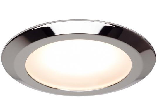 The EB12-2.0 series of recessed lights from prebit are manufactured in Germany and produce a warm white light colour of 3000 K. All four lights can not only be switched on and off by gently pressing the integrated soft button on the MAIN light, but also dimmed continuously. (Image 4 of 7)