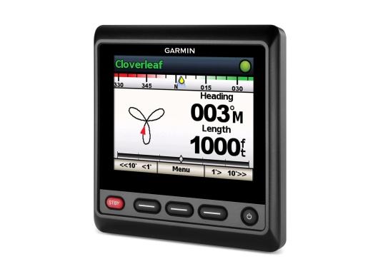 """Das hochwertige Autopilot-Display GHC20 verfügt über ein großes, helles 4"""" Farbdisplay und kann problemlos in neuere sowie ältere Autopilotsysteme von Garmin integriert werden. Dank einem integrierten Regler für die Helligkeit und einem Betrachtungswinkel von 170° wird eine optimale Lesbarkeit auch aus der Entfernung, bei Tageslicht und bei Nacht gewährleistet.Geeignet für Segel- und Motorboote. (Bild 4 von 7)"""