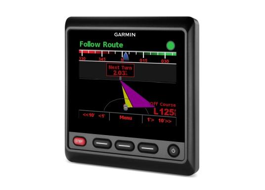 """Das hochwertige Autopilot-Display GHC20 verfügt über ein großes, helles 4"""" Farbdisplay und kann problemlos in neuere sowie ältere Autopilotsysteme von Garmin integriert werden. Dank einem integrierten Regler für die Helligkeit und einem Betrachtungswinkel von 170° wird eine optimale Lesbarkeit auch aus der Entfernung, bei Tageslicht und bei Nacht gewährleistet.Geeignet für Segel- und Motorboote. (Bild 5 von 7)"""