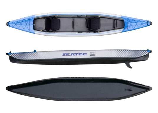 Discover nature in a new way with these high-quality, inflatable kayaks from SEATEC. (Image 4 of 12)