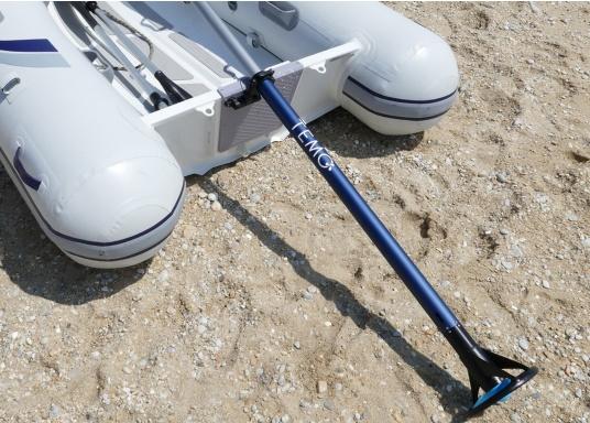 Mit der Dollenhalterung kann der Elektro-Motor TEMO-450 sicher an Ihrem Boot befestigt werden und verhindert, dass er versehentlich in das Wasser fällt. (Bild 5 von 7)