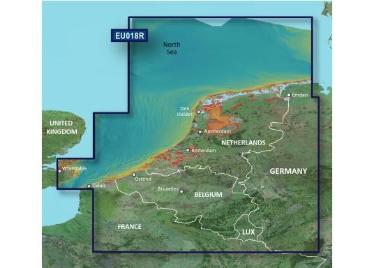 Fahrtgebiet BlueChart g3EU018R:Benelux Offshore und Inland