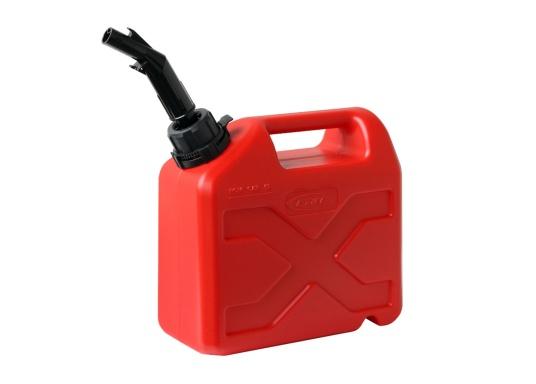 Tanica per carburante ad alto rendimento realizzata in HD-PE di alta qualità. Soddisfa i più elevati standard di sicurezza. Queste taniche di carburante sono approvate per il trasporto di sostanze pericolose e sono adatte anche per carburante di tipo E10.