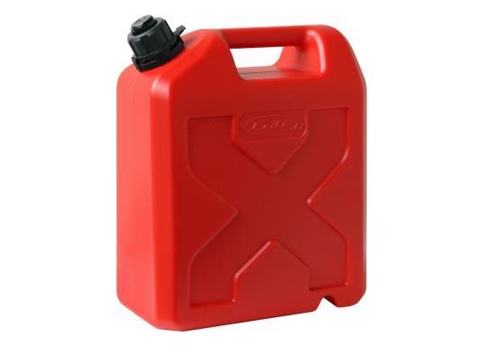 Tanica per carburante ad alto rendimento realizzata in HD-PE di alta qualità. Soddisfa i più elevati standard di sicurezza. Queste taniche di carburante sono approvate per il trasporto di sostanze pericolose e sono adatte anche per carburante di tipo E10. (Immagine 2 di 8)