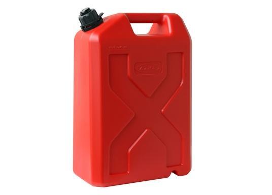 Tanica per carburante ad alto rendimento realizzata in HD-PE di alta qualità. Soddisfa i più elevati standard di sicurezza. Queste taniche di carburante sono approvate per il trasporto di sostanze pericolose e sono adatte anche per carburante di tipo E10. (Immagine 3 di 8)
