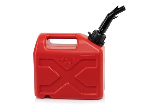 Tanica per carburante ad alto rendimento realizzata in HD-PE di alta qualità. Soddisfa i più elevati standard di sicurezza. Queste taniche di carburante sono approvate per il trasporto di sostanze pericolose e sono adatte anche per carburante di tipo E10. (Immagine 4 di 8)