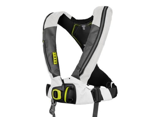 Die Automatik-Rettungsweste 6D von Spinlock kombiniert Komfort mit Funktionalität und ist optimal für den Langzeitgebrauch geeignet.Voll ausgestattet mit LED-Blitzlicht, Sprayhood, Schrittgurt, Signalflöte sowie D-Ring. Des Weiteren wird die Beweglichkeit dank der kompakten Beschaffenheit nicht eingeschränkt.Für Frauen und Männer ab 40 kg geeignet. Auftrieb: 170 N.