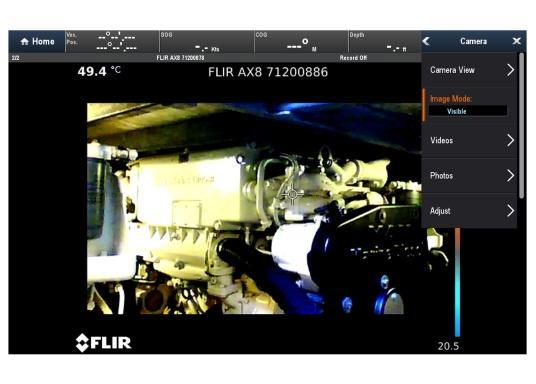 Die thermische Überwachungskamera AX8 überwacht die wichtigsten Geräte auf Ihrem Schiff.Falls die Temperatur von Maschinenteilen über voreingestellte Schwellenwerte steigt, werden unmittelbar akustische und visuelle Warnungen an Ihr Raymarine Multifunktionsdisplay gesendet.HINWEIS!Bei diesen Geräten handelt es sich um vom Hersteller werksüberholte Exemplare (zumeist Ausstellungsstücke) mit voller, zweijähriger Herstellergarantie. Weitere Informationen dazu finden Sie unten in der Produktbeschreibung. (Bild 14 von 15)