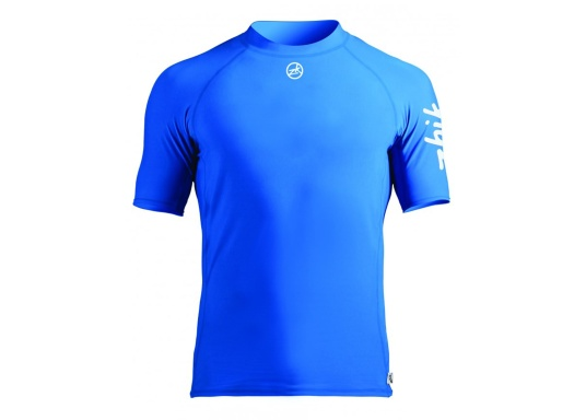 This durable short-sleeved spandex top is comfortable to wear and has UV50+ sun protection. The lightweight and breathable top also features non-itching flat seams.