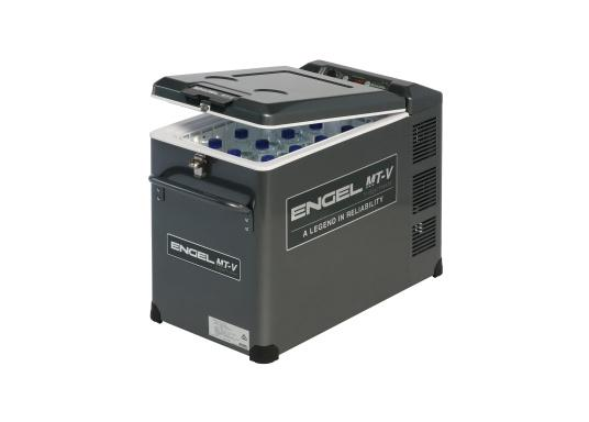 Extremely powerful and robust cooler, perfect for use on board or on the road. The new V-series features the proven, durable oscillating piston compressor and features edge protection and a new lockable closure. (Image 2 of 10)