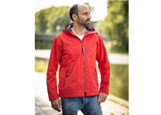 Die Herren-Crewjacke MIKO ist eine modische Jacke mit optimalem Wetterschutz, die sowohl wasserdicht als auch atmungsaktiv ist.