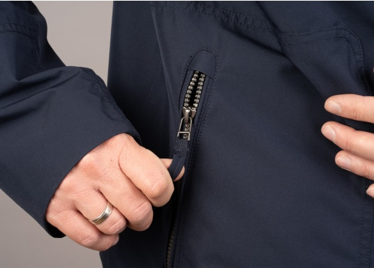The MIKO men's crew jacket is a fashionable coat with optimal weather protection that is both waterproof and breathable. (Image 9 of 10)