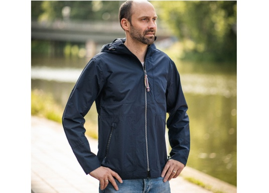 The MIKO men's crew jacket is a fashionable coat with optimal weather protection that is both waterproof and breathable. (Image 4 of 10)