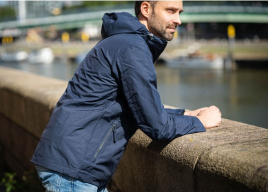 The MIKO men's crew jacket is a fashionable coat with optimal weather protection that is both waterproof and breathable. (Image 3 of 10)