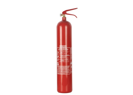Tragbarer Kohlendioxid-Feuerlöscher in Stahlausführung. Zugelassen nach DIN EN 3 für die Brandklasse B. Kohlendioxid ist ein rückstandsfreies Löschmittel, welches nicht elektrisch Leitfähig ist, daher eignen sich die Feuerlöscher zumLöschen von Elektroanlagen, Diesel und Benzinbränden. (Bild 2 von 2)