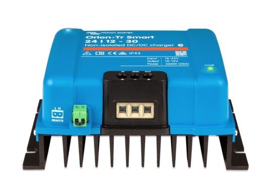 Das professionelle DC-DC Ladegerät ORION-TR SMART von Victron ist optimal für Doppelbatteriesysteme geeinget, bei denen die Lichtmaschine und die Starterbatterie zum Laden der Servicebatterie verwendet werden. Das Batterie-zu-Batterie-Ladegerät kann über Bluetooth überwacht, programmiert und über ein Fernschalter gesteuert werden. (Bild 3 von 3)