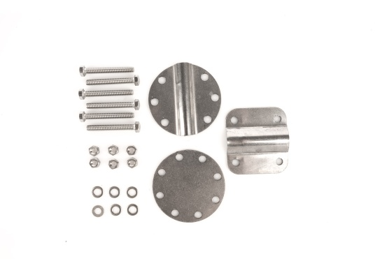 Passendes Ersatzhalter-Set für den Fenderkorb 3-fach. Bestehend aus drei Halteplatten, Schrauben und Muttern. Material: Edelstahl A4.